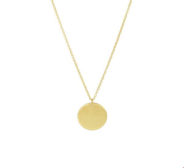 Grote foto 14 karaats gouden collier met rond muntje signature coin k kleding dames sieraden