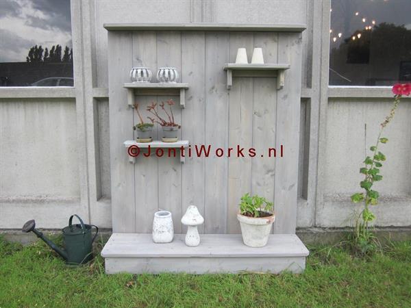 Grote foto steigerhout decoratiebord groot formaat tuin en terras tuinmeubelen toebehoren