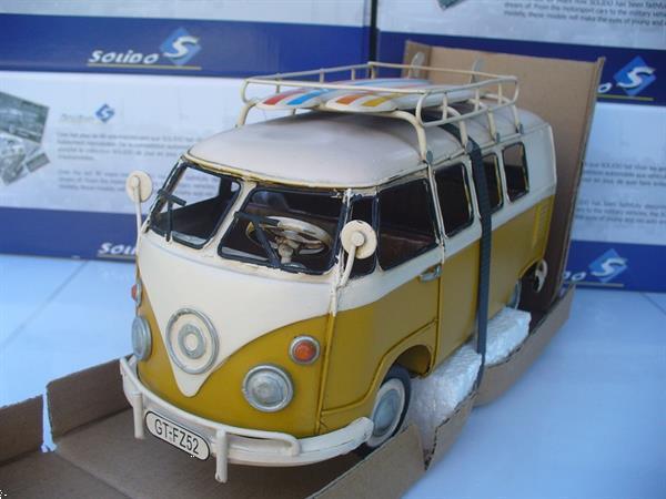 Grote foto tinplate collectables 1 18 vw volkswagen t1 geel hobby en vrije tijd 1 18