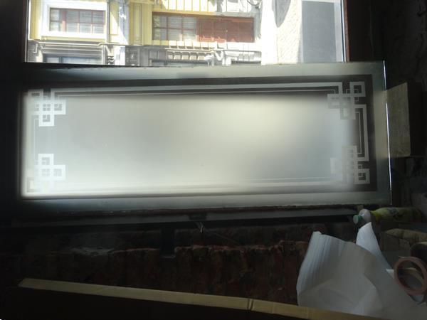 Grote foto 3 gegraveerde glazen stukken doe het zelf en verbouw glas en ramen