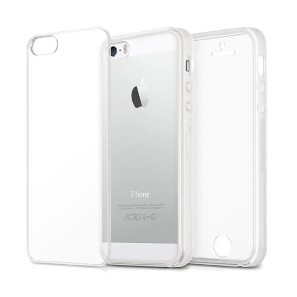 Grote foto iphone 5s full body 360 transparant tpu silicone hoesje p telecommunicatie mobieltjes