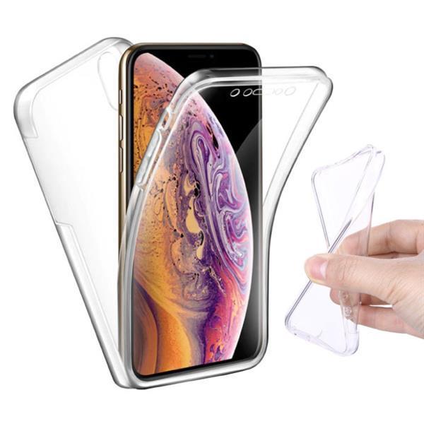 Grote foto iphone xs full body 360 transparant tpu silicone hoesje p telecommunicatie mobieltjes