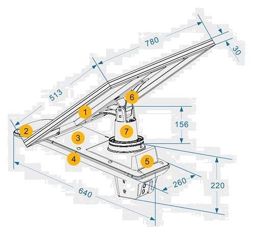 Grote foto led solar straatlantaarn armatuur voc 60w on top incl. afsta zakelijke goederen overige zakelijke goederen