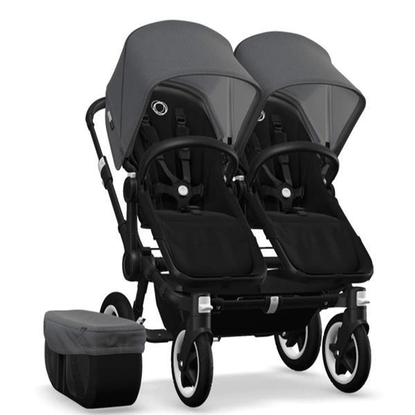 Grote foto bugaboo donkey 2 twin black 2x cabriofix kinderen en baby kinderwagens
