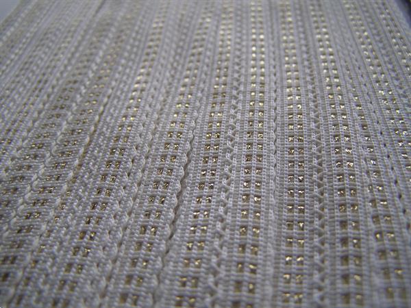 Grote foto zweigart wit 15mm gouddraad hobby en vrije tijd naaien en fournituren