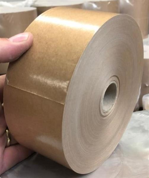 Grote foto bruine gegomde kraftrol tape 60 mm x 200 m nieuw zakelijke goederen partijgoederen