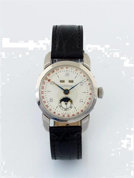 Grote foto cornavin triple calendar moonphase watch venus 203 2400 kleding dames horloges
