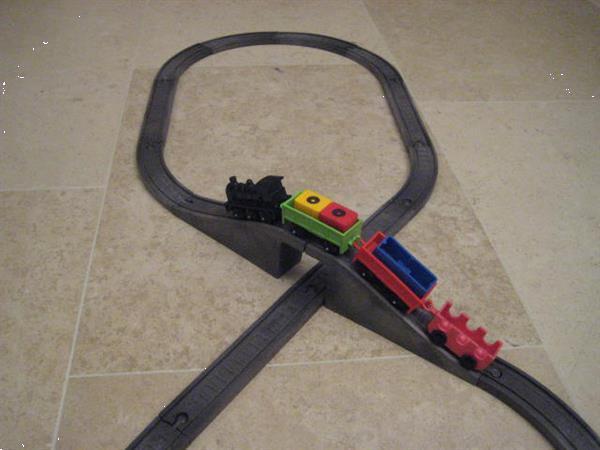 Grote foto treinbaan startersset 3 vintage kinderen en baby thomas de trein