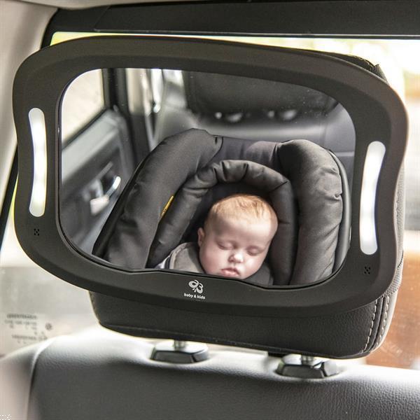 Grote foto a3 baby kids autospiegel met ledverlichting kinderen en baby autostoeltjes