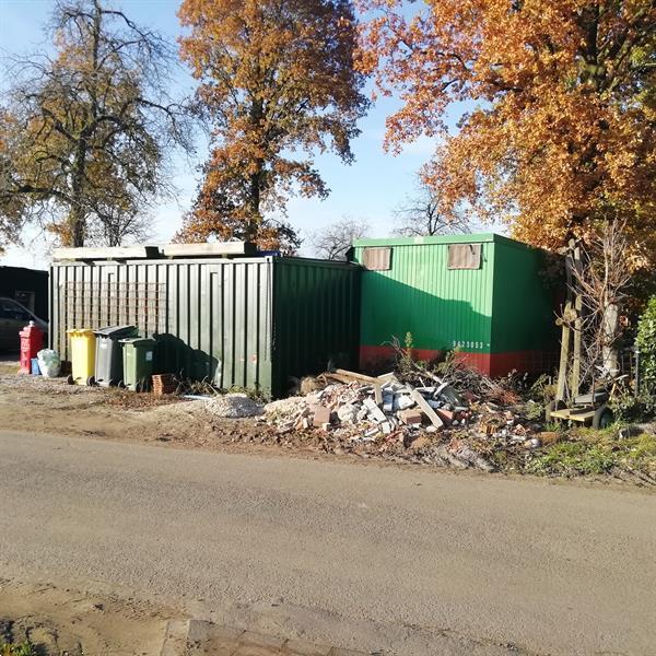 Grote foto container woonunit noodwoning stacaravan caravans en kamperen stacaravans