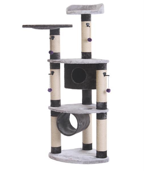 Grote foto krabpaal santi zwart grijs dieren en toebehoren katten accessoires