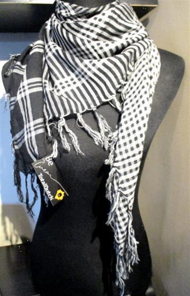Grote foto stoere 3 print franje sjaal nieuw kleding dames mutsen sjaals en handschoenen