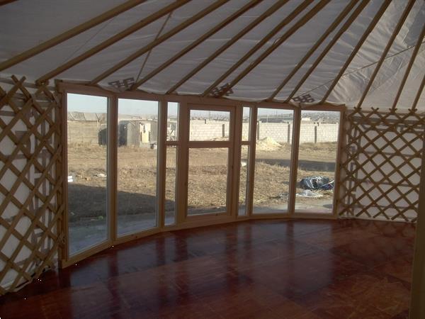 Grote foto houten vloeren voor mongoolse yurts diversen overige diversen