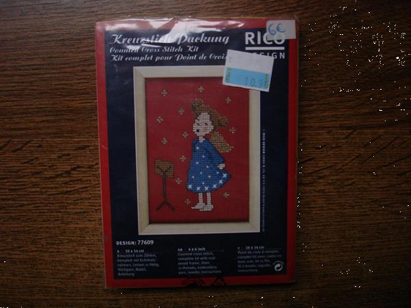 Grote foto borduur kit rico design kerst christmas song hobby en vrije tijd borduren