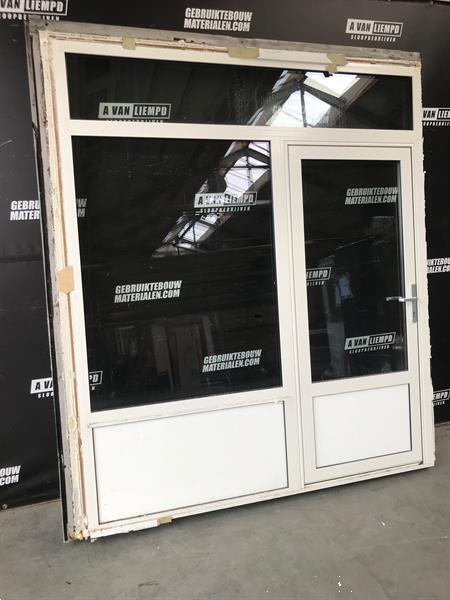 Grote foto aluminium raamkozijn met deur 220 b x 250 h doe het zelf en verbouw kozijnen en schuifpuien