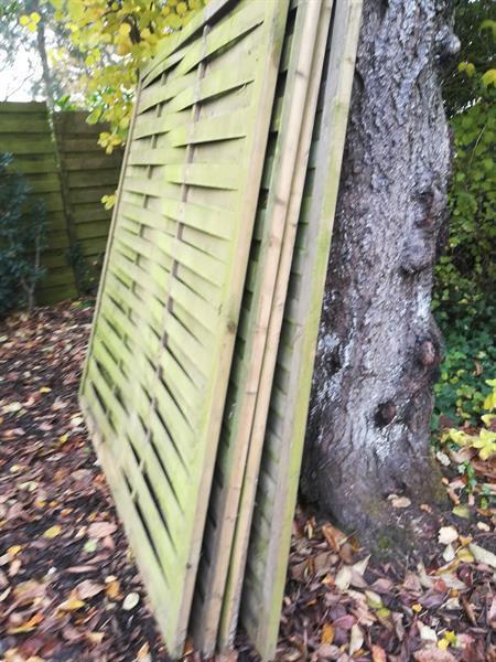 Grote foto gratis tuinschermen hillhout tuin en terras tuinhout en palen