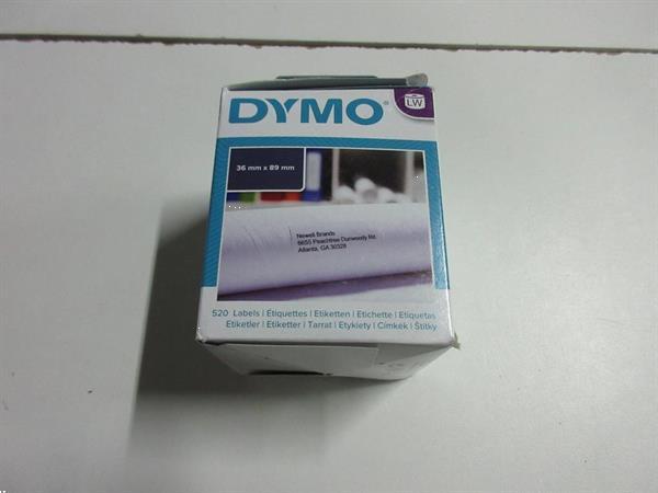 Grote foto dymo etiket 99012 labelwriter 36x89mm 520stuks 20al zakelijke goederen kantoorartikelen