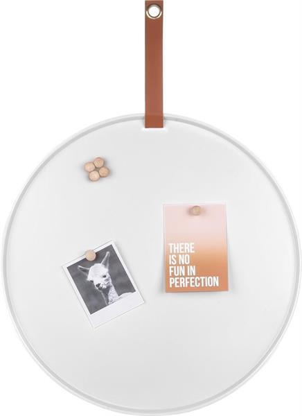 Grote foto pt present time perky memobord ijzer dia.50cm wit zakelijke goederen kantoorartikelen