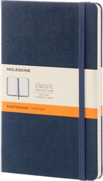 Grote foto moleskine classic notitieboek hard cover large donkerbla zakelijke goederen kantoorartikelen