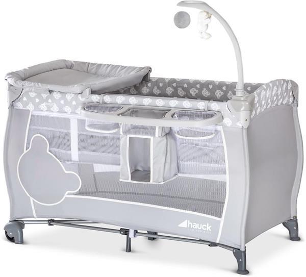 Grote foto hauck babycenter campingbedje teddy grey 20al 37 caravans en kamperen caravan accessoires