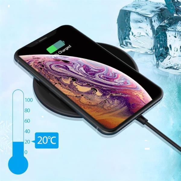 Grote foto 15w qi universele draadloze oplader wireless charging pad wi telecommunicatie opladers en autoladers