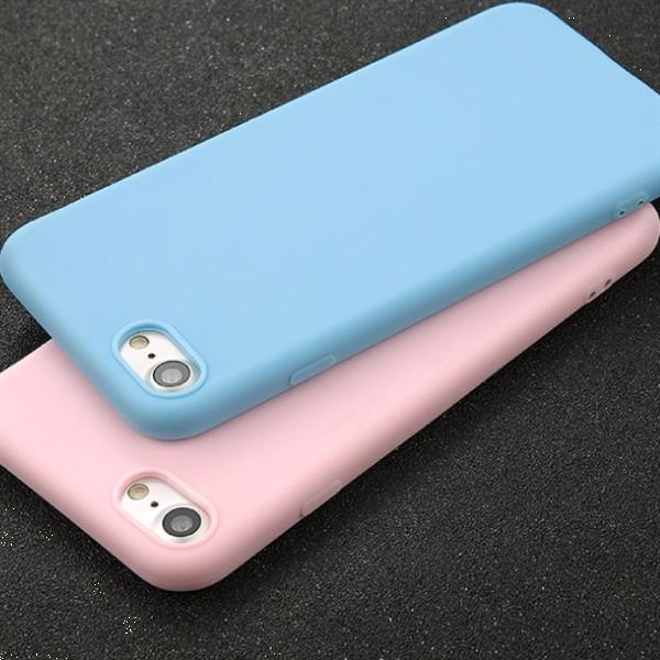 Grote foto ultraslim iphone 8 plus silicone hoesje tpu case cover roze telecommunicatie mobieltjes