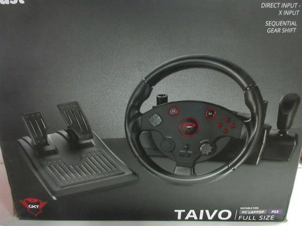 Grote foto trust gxt 288 taivo racestuur pc ps3 20al 35 spelcomputers games overige games