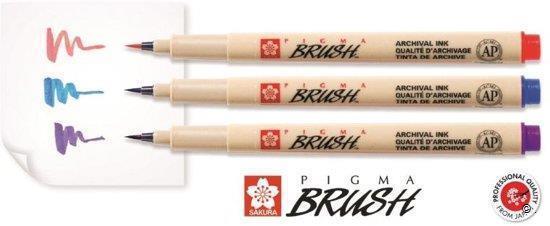 Grote foto sakura pigma brush pens set van 9 kleuren 20ap 60731 kinderen en baby overige
