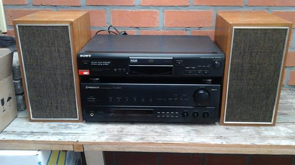 Grote foto stereoinstallatie audio tv en foto stereo sets