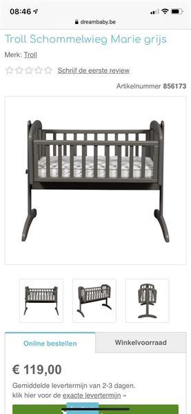 Grote foto baby schommel bed wiegje met matras kinderen en baby bedden