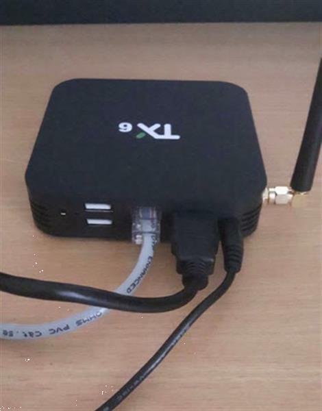 Grote foto 4k smart box met wifi antenne audio tv en foto mediaspelers