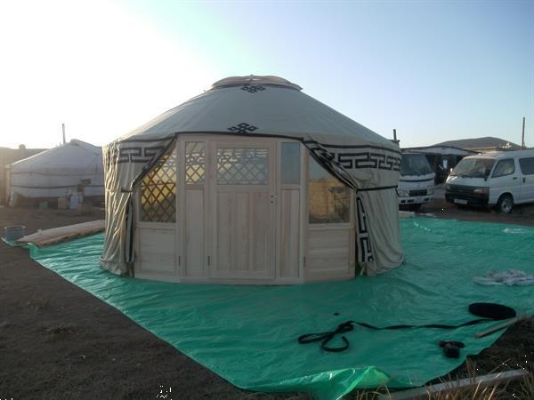 Grote foto tweedehands 5 meter diameter luxe mongoolse yurts caravans en kamperen tenten