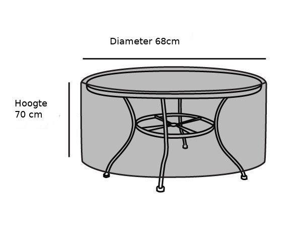 Grote foto tafel hoes rond 68 cm diameter transparant tuin en terras tuinmeubelen toebehoren