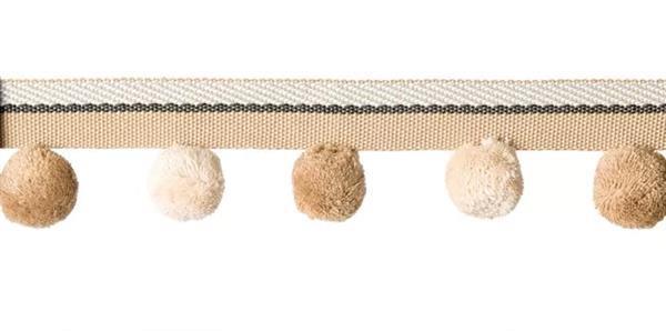 Grote foto afwerkband bolletjes hobby en vrije tijd naaien en fournituren