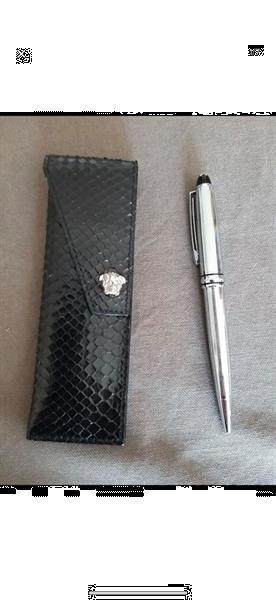 Grote foto gianni versace leren pennenhouder exclsf sieraden tassen en uiterlijk portemonnees