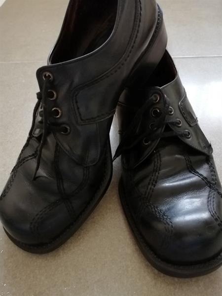 Grote foto kwalitatieve zwarte schoenen met sierstiksels 44 kleding heren schoenen