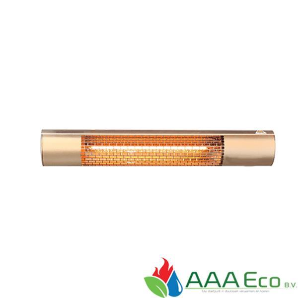 Grote foto aaa eco infraroodheater mw 2000w tube goud d.c tuin en terras terrasverwarmers