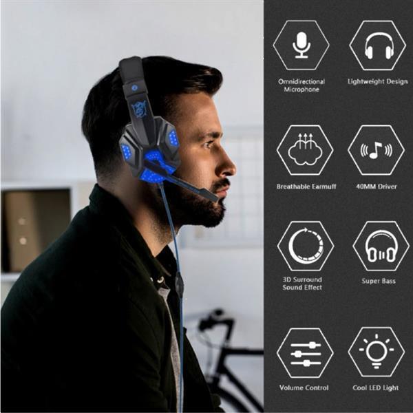 Grote foto bass hd gaming headset stereo koptelefoon headphones met mic audio tv en foto koptelefoons