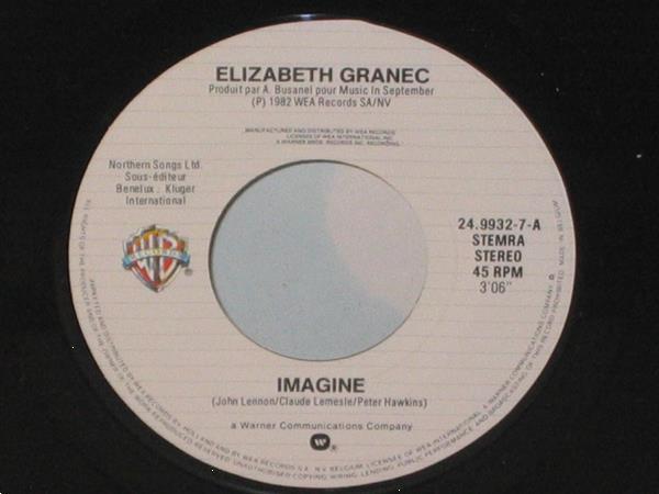 Grote foto elizabeth granec imagine j aime ca muziek en instrumenten platen elpees singles