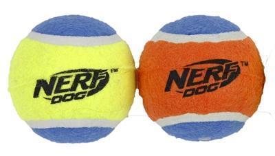 Grote foto nerf squeak tennisbal assorti large 7 5 cm 2 st dieren en toebehoren toebehoren