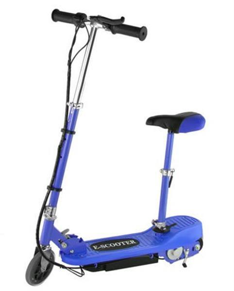 Grote foto elektrische scooter 12km p uur 250w met zitting fietsen en brommers steppen