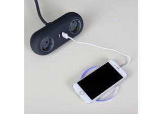 Grote foto draadloze usb oplader voor android en apple handy. telecommunicatie opladers en autoladers