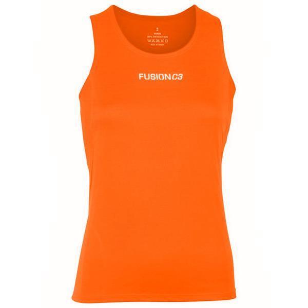 Grote foto fusion c3 singlet orange dames size medium kleding dames sportkleding