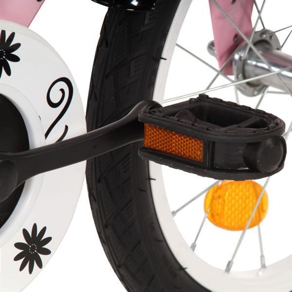 Grote foto vidaxl kinderfiets met voordrager 12 inch wit en roze fietsen en brommers herenfietsen