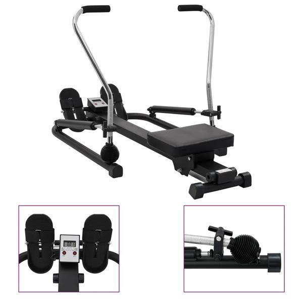 Grote foto vidaxl roeitrainer met 5 niveau en hydraulische weerstand sport en fitness fitness