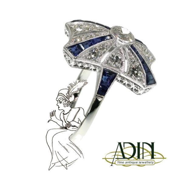 Grote foto vintage verlovingsringen met saffier sieraden tassen en uiterlijk ringen voor haar