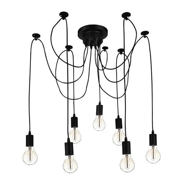 Grote foto lux.pro design hanglamp brussel vintage stilj zwart huis en inrichting overige