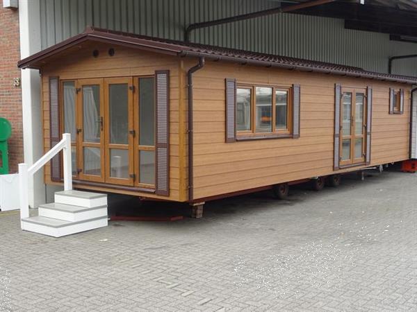 Grote foto chalet hout optic dikke isolatie caravans en kamperen stacaravans