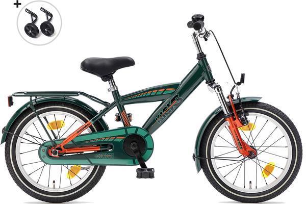 Grote foto supersuper kicks jongensfiets 16 inch groen fietsen en brommers kinderfietsen