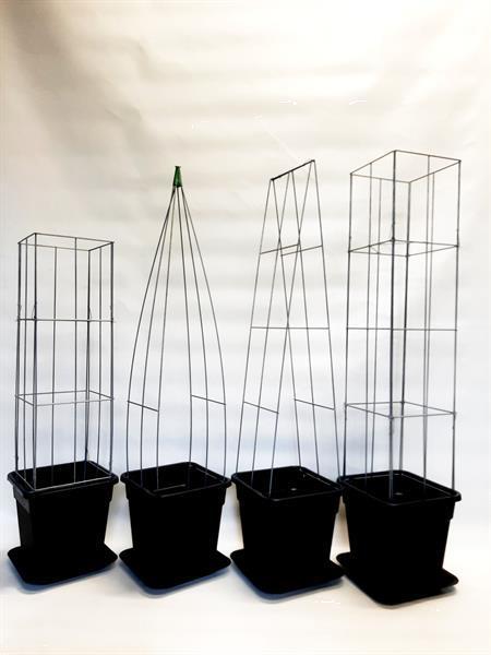 Grote foto klimplant draadrekken voor in plantenbakken. tuin en terras bloembakken